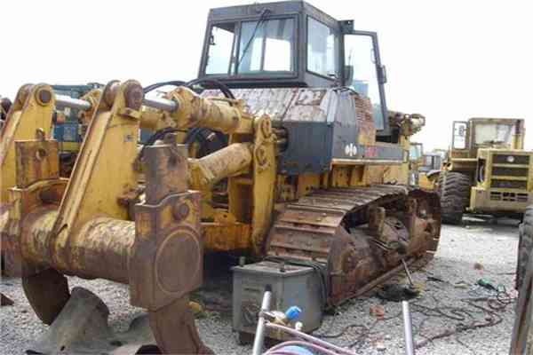 Komatsu Used Walking Dozer with Rippers Secondhand Bulldozer D155A 2 186